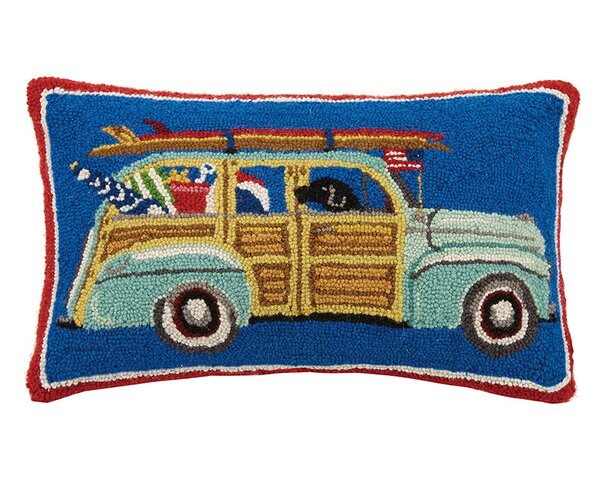 Station Wagon 100% Cotton Lumbar Pillow by Mary Lake Thompson
